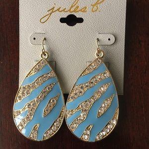 Sky Blue/Gold Earrings